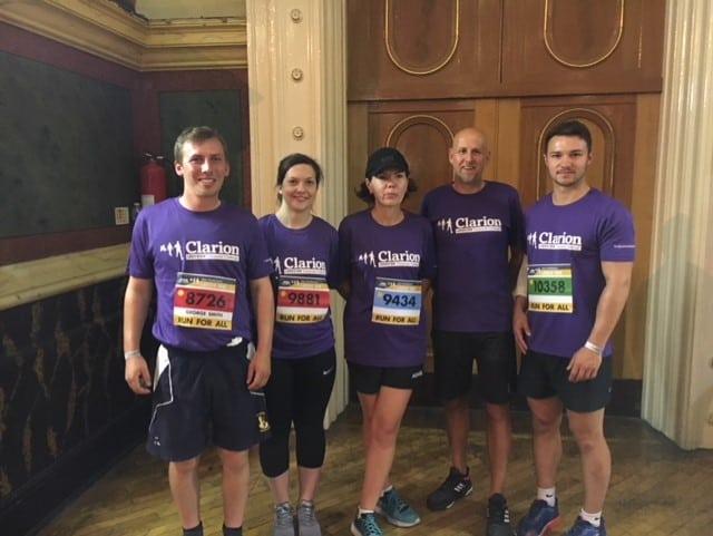 Simpson Wood runs Clarion 10K Corporate Challenge