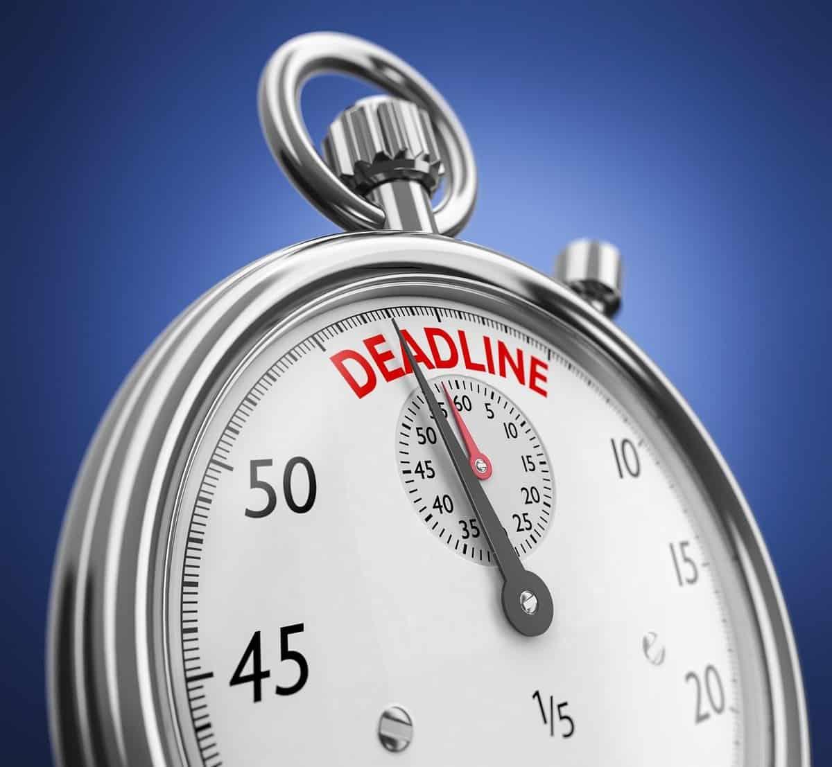 Self assessment deadline approaching